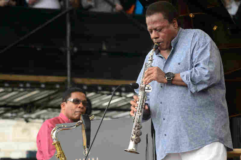 For Wayne Shorter's 80th birthday, longtime friend and legendary pianist Herbie Hancock (left) joins him on the Fort Stage.