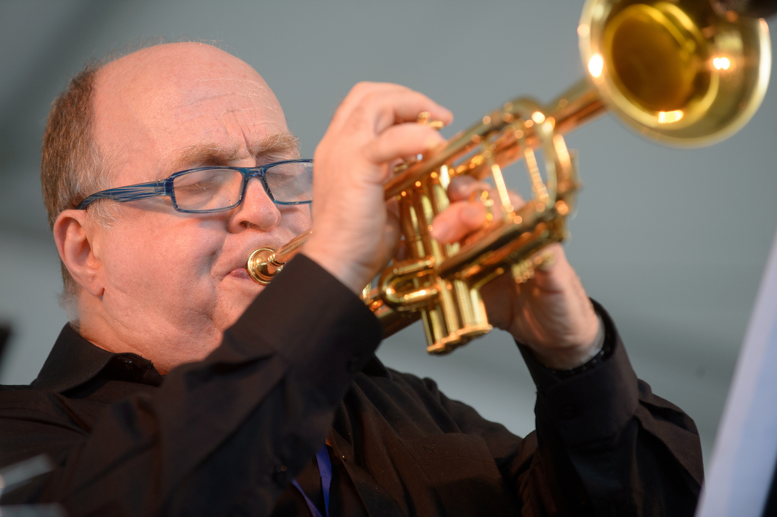 Take a New Orleans-style brass band, then shrink it: That's the Ray Anderson Pocket Brass Band playing the Sweet Chicago Suite. Pictured here is trumpeter Lew Soloff.