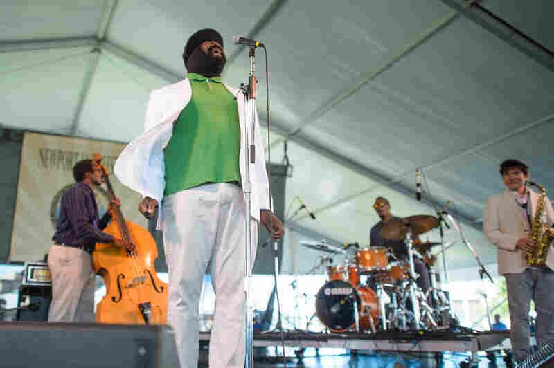 Gregory Porter performs at the 2013 Newport Jazz Festival