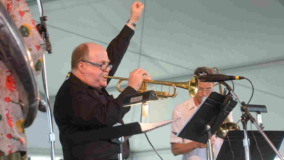 The Ray Anderson Pocket Brass Band performs at the 2013 Newport Jazz Festival.