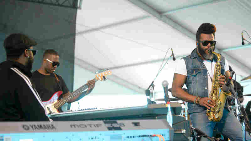 The Robert Glasper Experiment performs at the 2013 Newport Jazz Festival.
