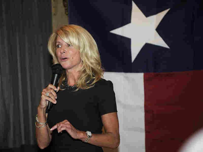 Texas state Sen. Wendy Davis speaks at a Washington, D.C., fundraiser last month.