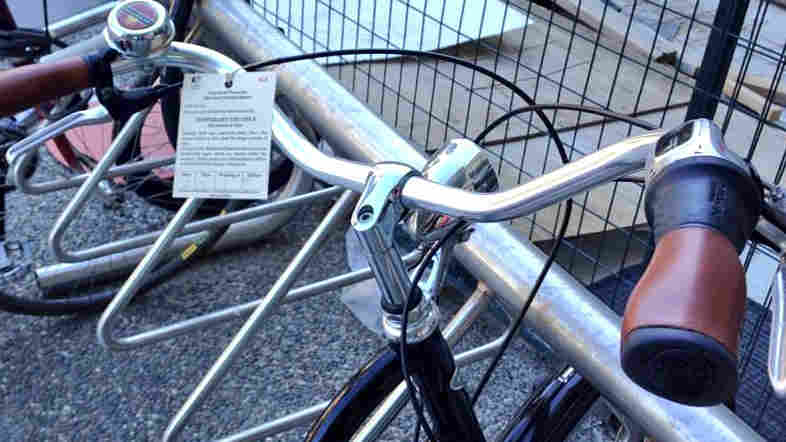 """So I got a ticket,"" bike commuter Molly Millar wrote in a tweet last week. The Vancouver cyclist had left her bike in a rack outside her office building."