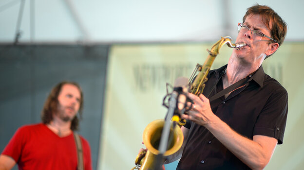 The Donny McCaslin Group performs at the 2013 Newport Jazz Festival.