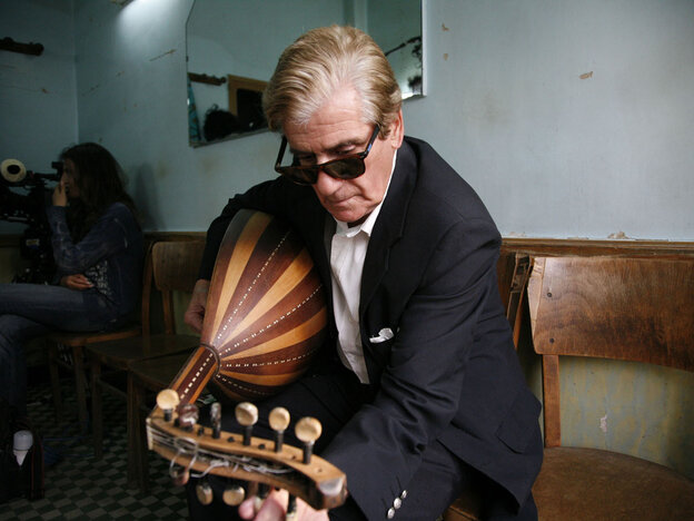 Oud player Rachid Berkani, 76, is one of the musicians of El Gusto.
