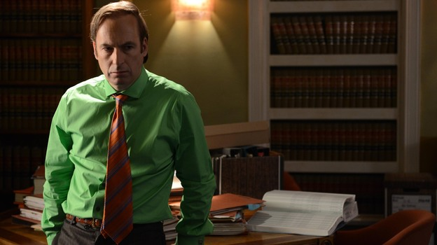 Bob Odenkirk plays sleazeball lawyer Saul Goodman on AMC's Breaking Bad. The show is in its final season, but creator Vince Gilligan has talked about doing a spinoff series for Saul that would star Odenkirk. (AMC)