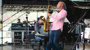 The Joshua Redman Quartet performs at the 2013 Newport Jazz Festival.