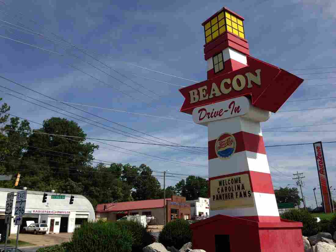 As you approach the Beacon in Spartanburg, S.C., you see the lighthouse, which is the only light thing you're going to encounter for the next half-hour or so.