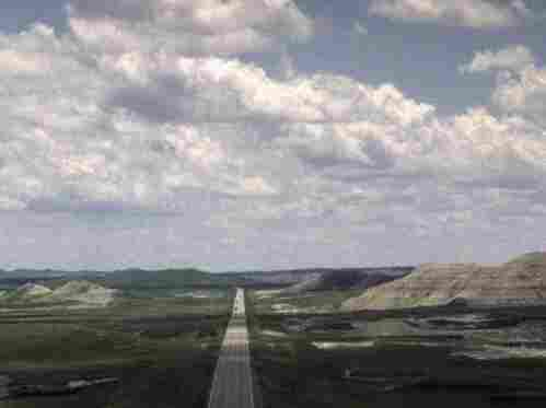 A highway that runs from Scenic, S.D. towards the Pine Ridge Indian Reservation.