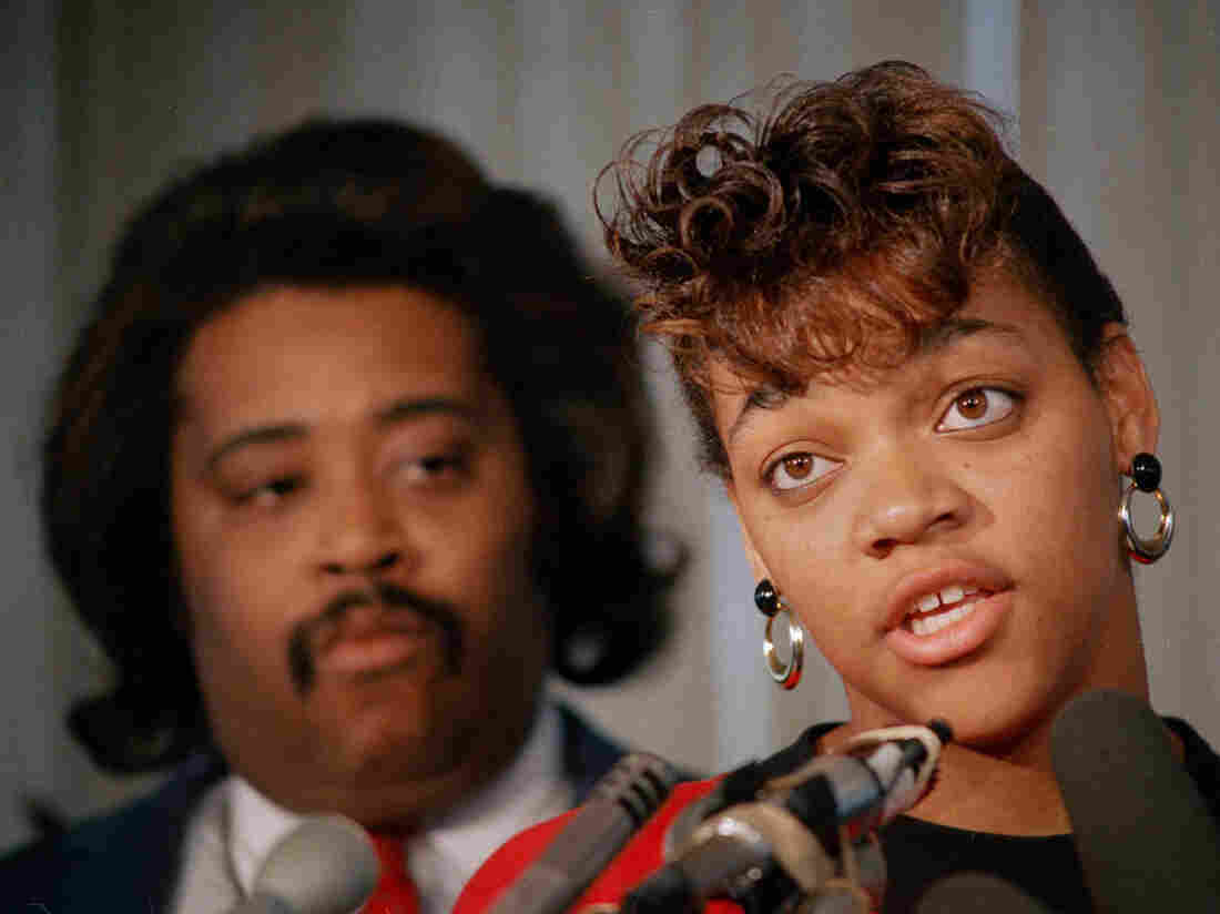 Tawana Brawley, with the Rev. Al Sharpton, in 1988.