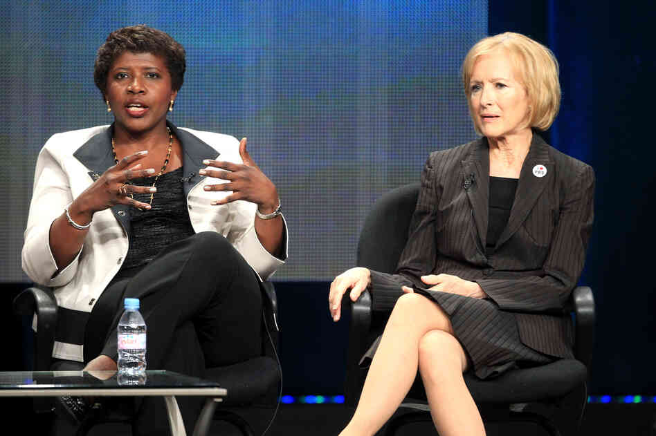 Gwen Ifill, left, and Judy Woodruff.