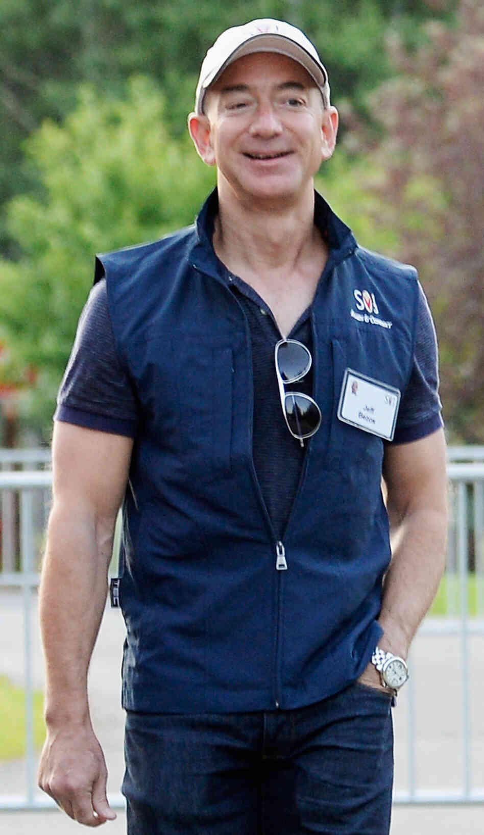 Jeff Bezos, founder and CEO of Amazon.com and soon-to-be owner of The Washington Post, last month in Sun Valley, Idaho.