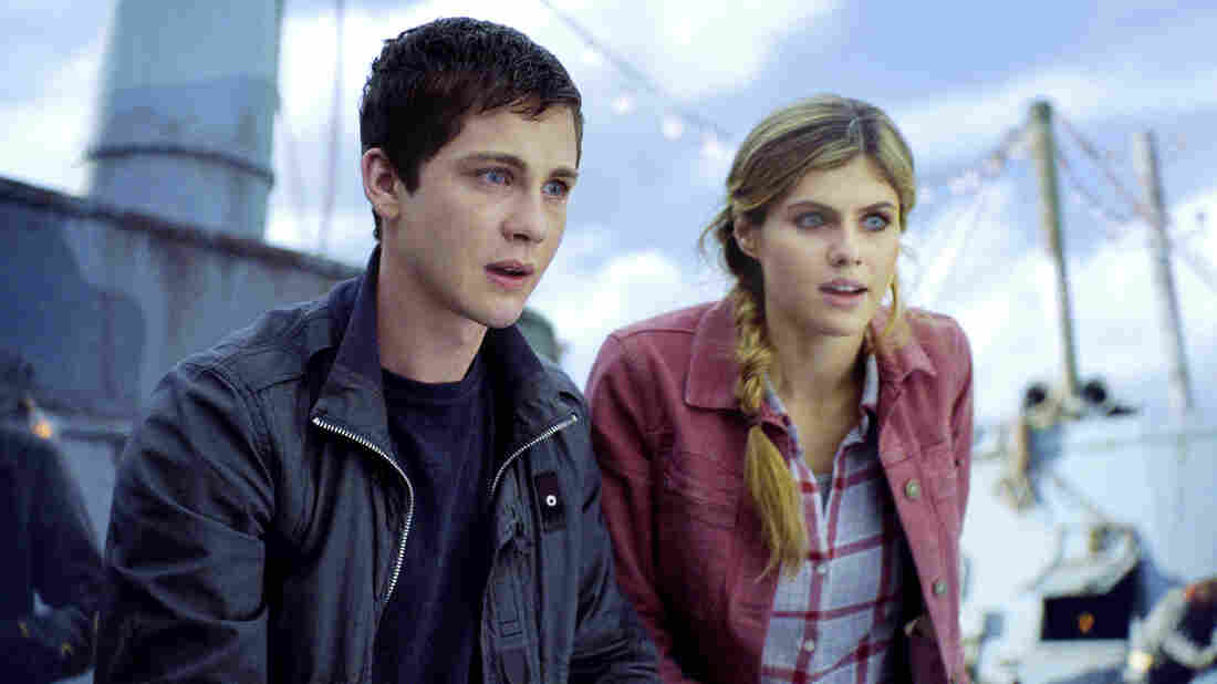 Percy Jackson (Logan Lerman of Perks of Being a Wallflower) and his pal Annabeth (Alexandra Dadd