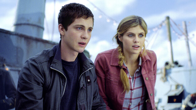 Percy Jackson (Logan Lerman of Perks of Being a Wallflower) and his pal Annabeth (Alexandra Daddario) are two of the unusually talented teens resident at Camp Half-Blood, a summer retreat for — well, demigods, not to put too fine a point on it.