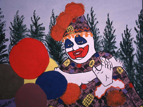 John Wayne Gacy painted this portrait of himself in character as Pogo the clown.