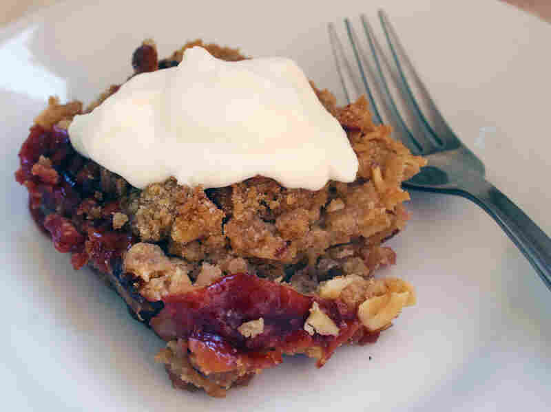 Plum-Cherry Crumble