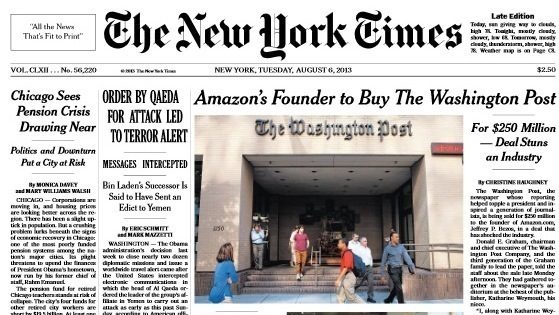 an analysis of the new york times and amazoncom Analysts think amazoncom could be ready to move beyond its cloud services businesses — renting data storage and raw computing power — and add analysis software that can be rented, and possibly modified, to suit a company's needs.