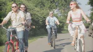 "Scene from the Norah Jane Struthers video ""Bike Ride."""
