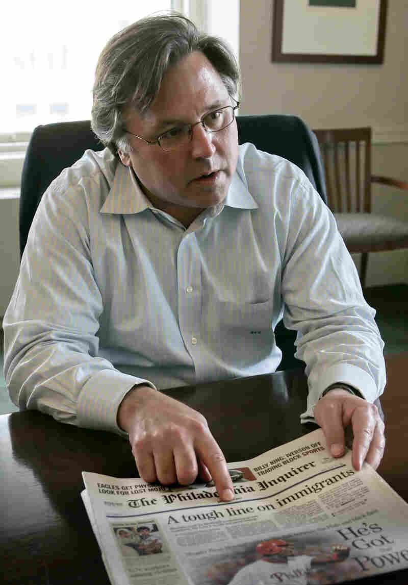 Brian Tierney, shortly after buying The Philadelphia Inquirer and Philadelphia Daily News in 2006. The papers, struggling with debt, have since changed hands twice.