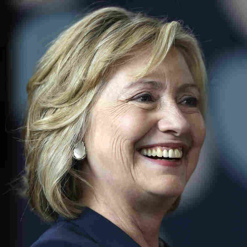 Former Secretary of State Hillary Clinton appears at the Women in Public Service Project leadership symposium in Bryn Mawr, Pa., on July 9.