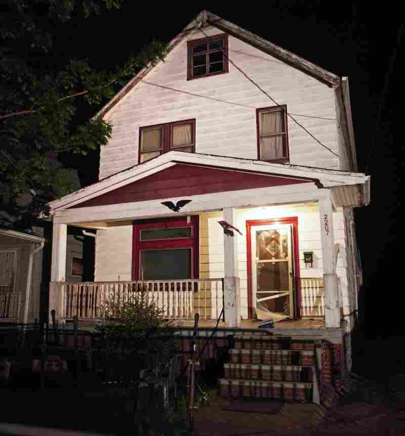 A general view of the exterior of the house, where three women who had disappeared as teenagers approximately 10 years ago, were found alive on May 6 in Cleveland, Ohio.
