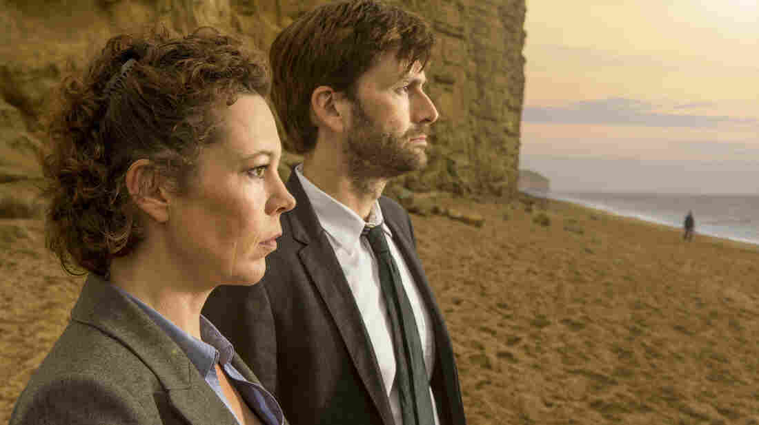 Olivia Colman and David Tennant in Broadchurch.