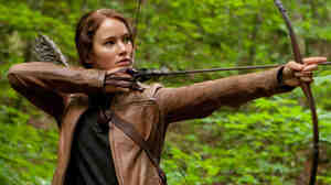 Actress Jennifer Lawrence plays Katniss Everdeen in the movie version of The Hunger Games.