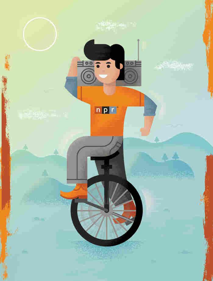 Designer and illustrator Luke Bott, of Wichita, KS, contributed this art for the 2014 NPR Wall Calendar.