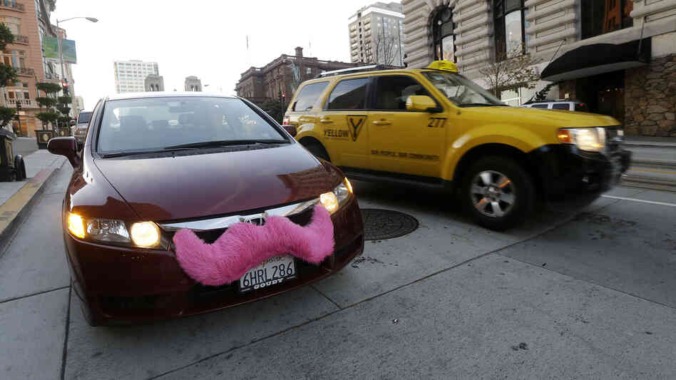 In cities across the nation, people are turning to ridesharing apps like Lyft — whose cars are adorned with pink mustaches — instead of traditiona