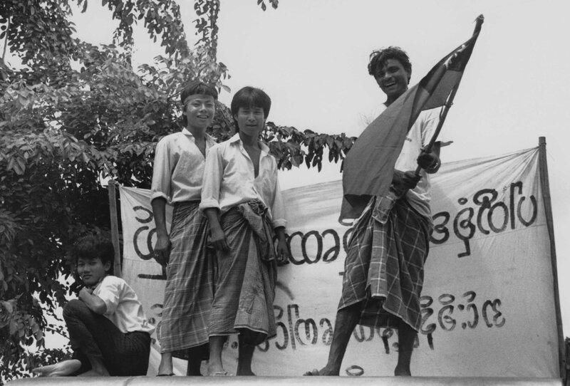 Burmaprotester vid kinas ambassader