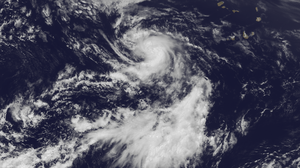 Image of Tropical Storm Dorian on July 24 from NOAA's GOES East satellite.