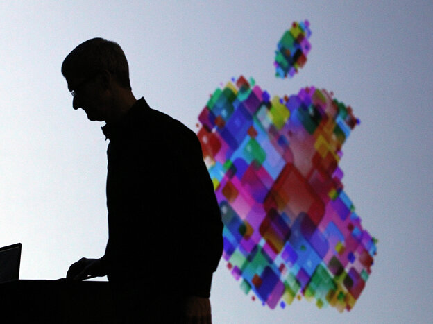 Apple CEO Tim Cook delivers the keynote address at the Apple 2012 World Wide Developers Conference.