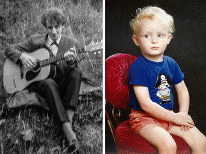 Bobbie Hanvey as a young man (left) and a childhood photo of Steafán Hanvey (right).