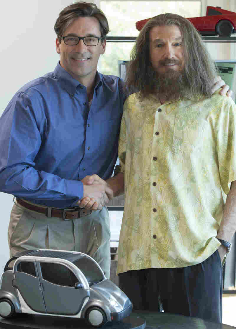 Jon Hamm stars alongside Larry David (under a lot of hair and makeup) in HBO's Clear History. It tells the story of a marketing executive (David) who fights with his boss (Hamm) and sells his share of the company — right before it makes it big.