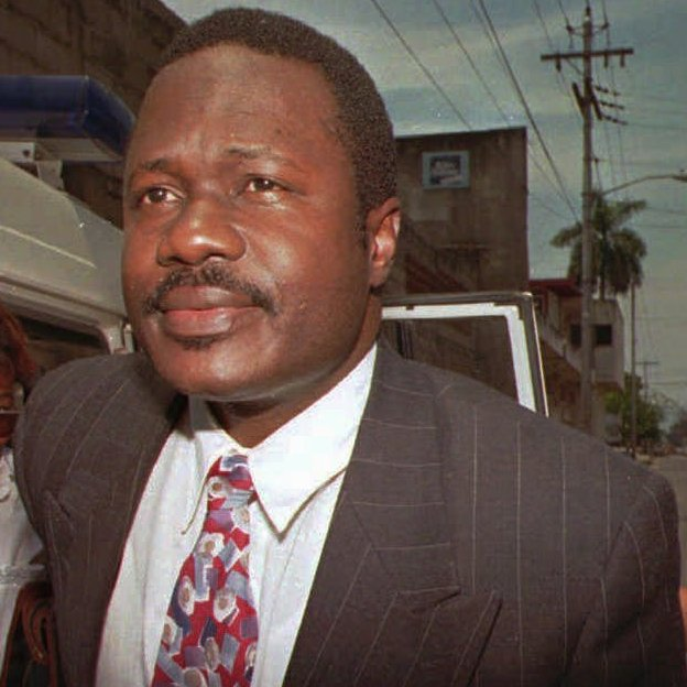 Top military and police officers led the 1991 overthrow of Haiti's government. Among them were Michel Francois (shown here in 1996), the country's police chief, and army chief Philippe Biamby. Both received training at the School of the Americas during the 1980s.