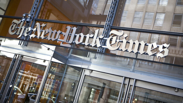 The New York Times' headquarters building.