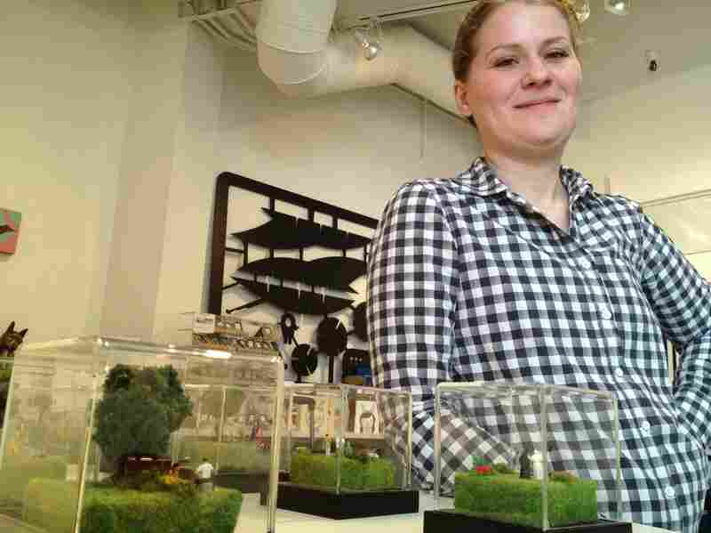 Abigail Goldman, a former Las Vegas newspaper reporter, now creates and sells dioramas of imaginary crime scenes.