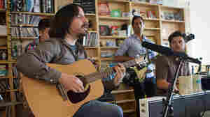 Musician Jim Guthrie performs a Tiny Desk Concert at the NPR headquarters in Washington, D.C. on Friday, May 31, 2013.