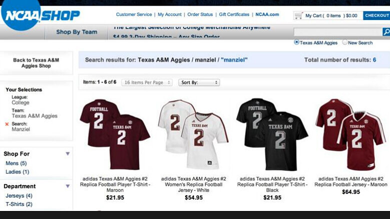 2debab3a7 NCAA Will Stop Selling Player Jerseys