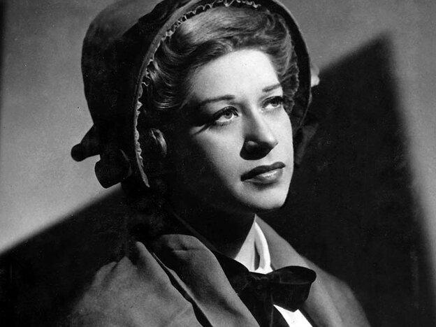 Regina Resnik as Ellen Orford in the Metropolitan Opera premiere of Benjamin Britten's Peter Grimes in 1948.