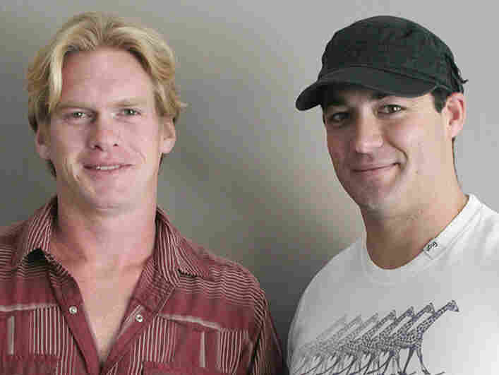 Marine Cpl. Paul Wayman, left, and former Navy SEAL Nathanael Roberti met through a program in California that helps veterans readjust to civilian life.