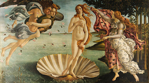 Even in Sandro Botticelli's painting The Birth of Venus, the goddess's belly resembles a plump, firm tortellino. (Wikimedia.org)