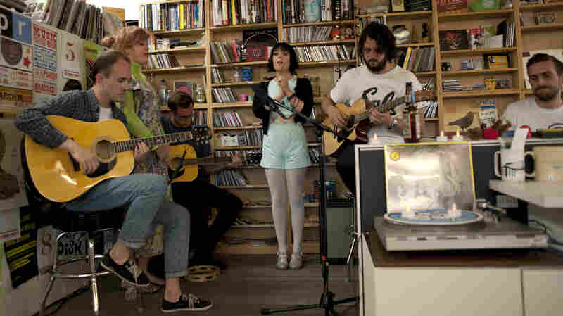 Alpine performs at a Tiny Desk Concert in June 2013.
