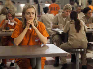 Taylor Schilling plays Piper in Netflix's Orange Is the New Black, which is based on Pi