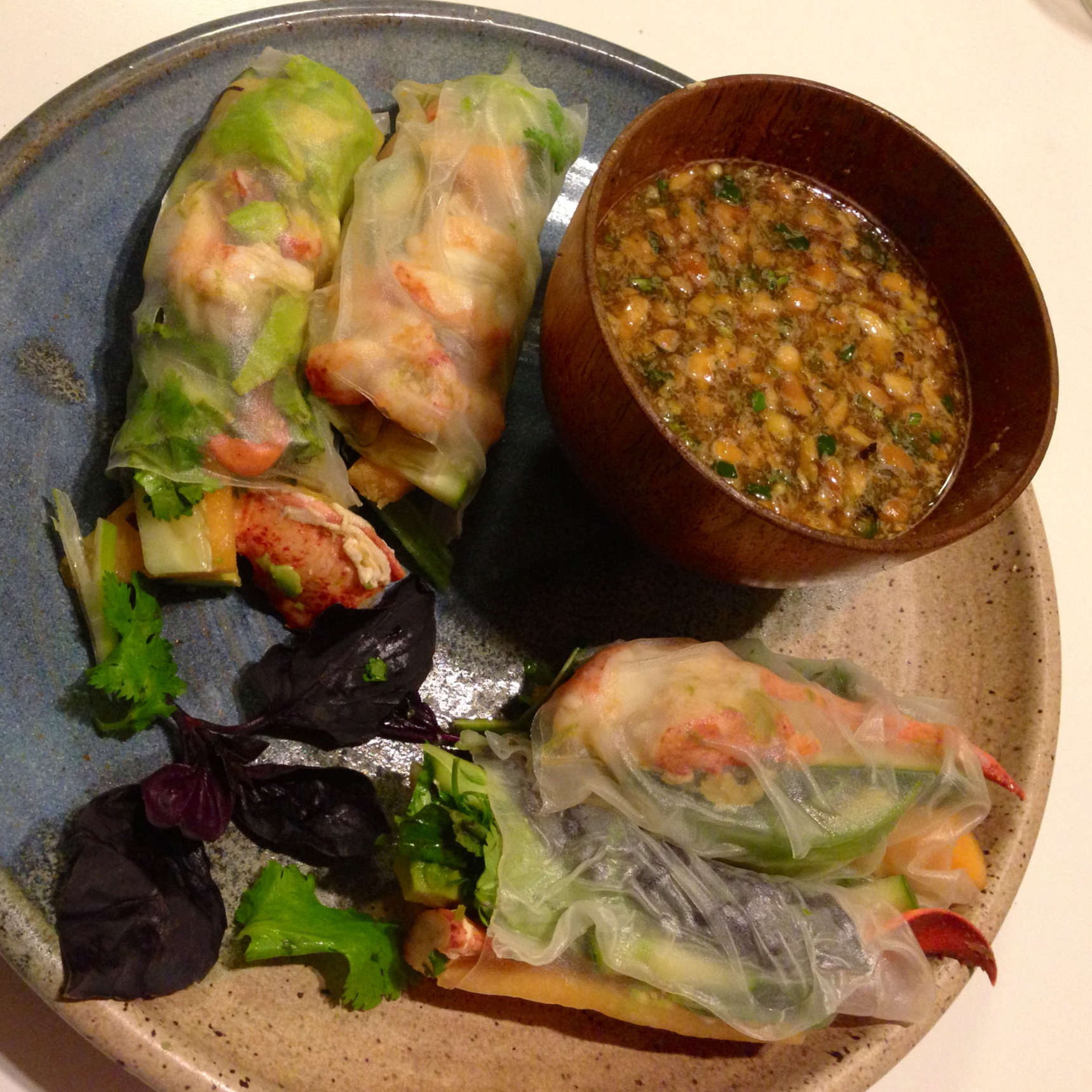 Vietnamese Salad Rolls with Lobster