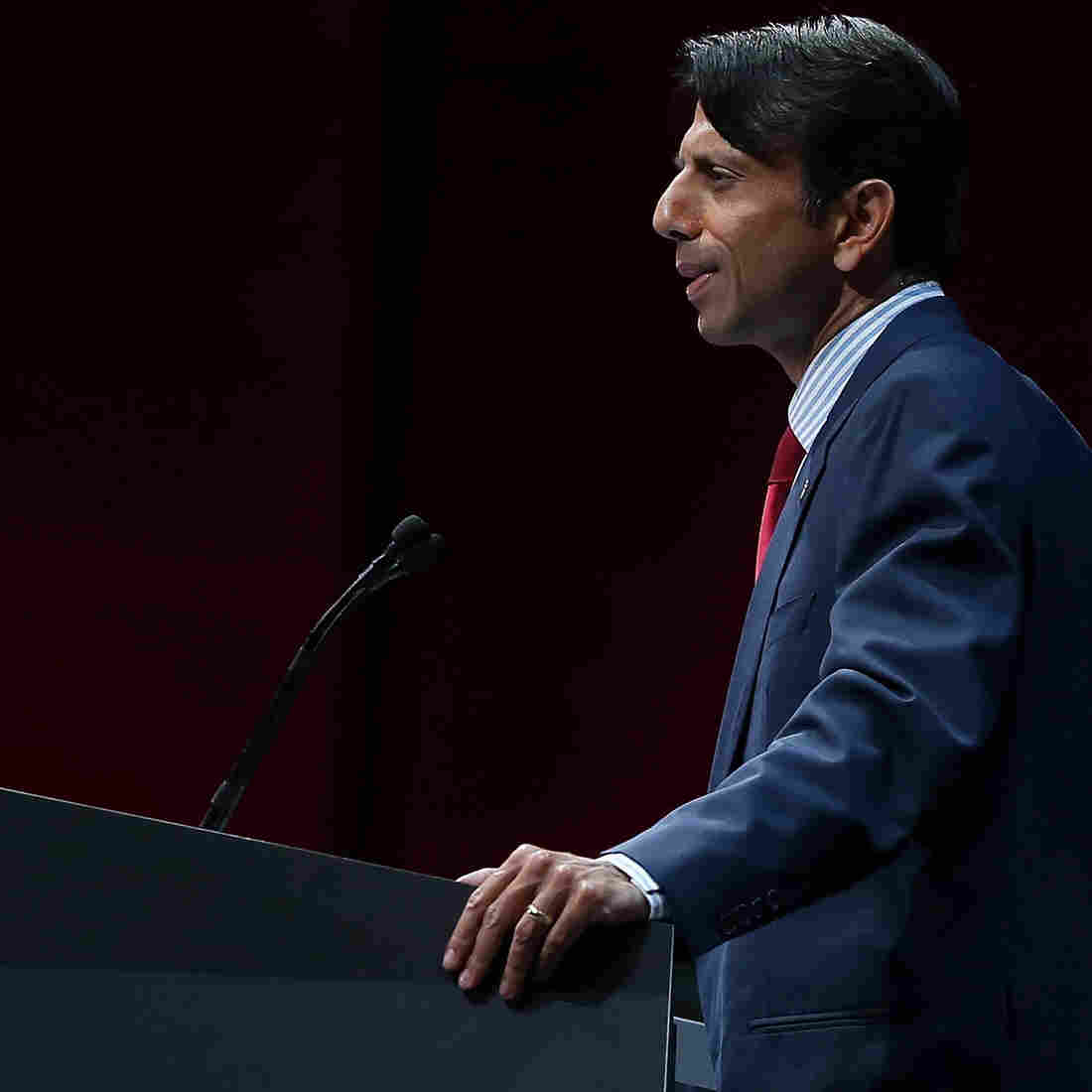 Republican Gov. Bobby Jindal of Louisiana speaks to the National Rifle Association in Houston in May. Could he really be a surprise contender in the Invisible Primary?