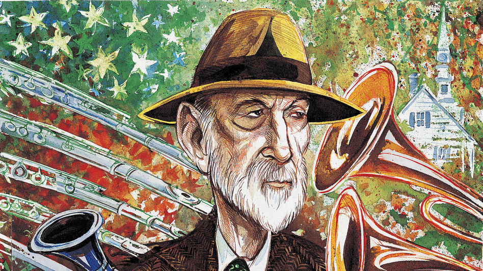 Charles Ives, better known as an insurance executive in his time, wrote innovative symphonies incorporating American folk and hymn tunes. (Corbis)