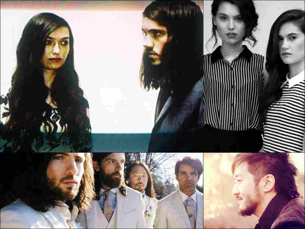 Clockwise from upper left: Cults, Lily and Madeleine, Kishi Bashi, The Avett Brothers