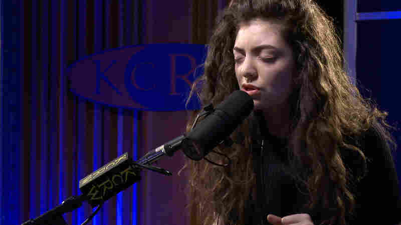 """Lorde performs """"Royals"""" on KCRW's Morning Becomes Eclectic."""