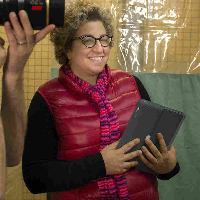 Jenji Kohan, seen here on the set of Orange Is the New Black, began her writing career on The Fresh Prince of Bel-Air.